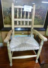 A rustic rush seated child's chair est: £20-£40