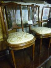 A pretty pair of early 20c French chairs upholstered in cream est: £50-£80