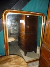 A large 19c ornate wall mirror over mantel with early glass (5' high x 4' 6'' wide approx) est: £150-£250