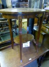 A 20c oval lamp table with a single drawer est: £30-£40