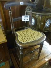 A 19c country chair with cane seat est: £15-£25