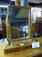 A 19c table top mirror in need of some attention est: £15-£25