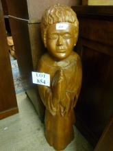 A large carved figure praying est: £80-£120