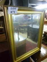 A 20c gold wall mirror with bevelled glass est: £30-£50