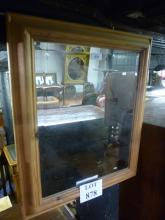 A 20c pine wall mirror with bevelled glass est: £30-£50