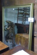 A 20c large ornate mirror with bevelled edge glass est: £80-£120