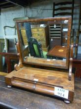 A Victorian mahogany table top mirror with two drawers est: £50-£80