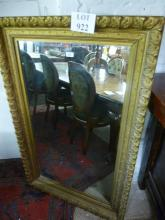 A 19c gold carved wall mirror (slightly a/f) est: £55-£85