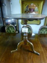 An 18c oak tripod table of good rich colour and patina est: £50-£100