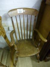 A 19c elm seated Windsor armchair slightly a/f est: £30-£50