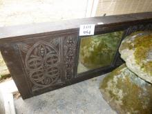 A 19c oak carved over mantel mirror est: £40-£60