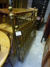 A brass double bed with side rails (bolts with office) est: £100-£150