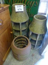 Three old chimney pots est: £30-£50