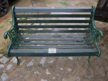An iron garden bench est: £100-£150