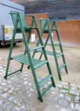 A pair of painted Umpire seats est: £100-£200