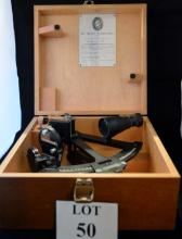 A boxed Naval sextant est: £40-£60 (B36)