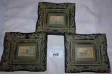 A collection of three Baxter prints in ornate frames est: £40-£60