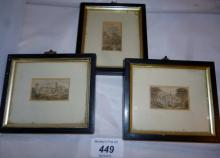 A collection of three Baxter prints in black edged frames est: £40-£60