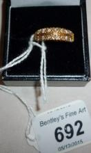 An 18ct gold 1/2 eternity ring (size N) boxed est: £150-£250
