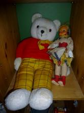A Rupert the Bear Teddy and one other doll est: £25-£45 (B15)