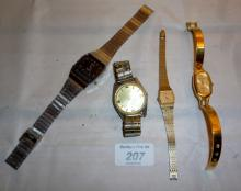 A Zeon gentleman's wristwatch, a Lucenne gentleman's wristwatch and a lady Philip Mercier and two others est: £30-£50