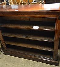 A mahogany open bookcase with boxwood and ebony stringing (49'' x 13.5'' x 44'' approx) est: £260-£320