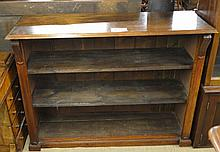 A 19c mahogany open bookcase with two adjustable shelves est: £50-£80