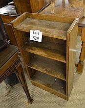 A 20c oak slim open bookcase est: £20-£30