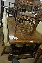 A fine Tudor Oak (10' x 36'') refectory dining table made from 200 year old oak and seats 10-12 est: £800-£1,200