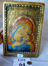 An Icon depicting Madonna and Child est: £40-£60 (B24)