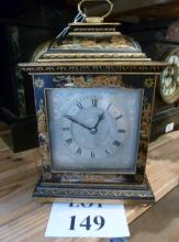 A black Japanned Chinoiserie style mantle clock et: £40-£60 (G2)