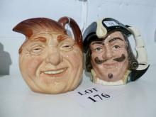 A Royal Doulton toby jug: Capt Henry Morgan D6467; and another John Barleycorn Old Lad est: £40-£60 (O4)