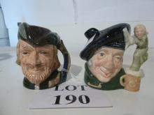 Two Royal Doulton Toby jugs: Tam O'Shanter and Robin Hood est: £40-£60 (O1)