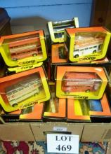 A collection of approx eighteen Corgi model busses, boxed; and other miniature buses of assorted makes est: £30-£50 (BF26)