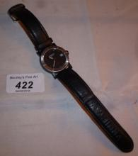A gentleman's wristwatch with leather strap marked Raymond Weil Geneve est: £50-£80