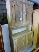 A late 19c pine kitchen cupboard est: £50-£100