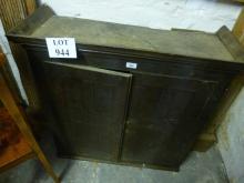 A 19c oak two door cupboard est: £40-£60