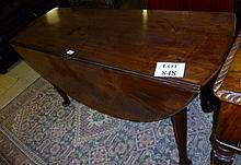 An excellent George III mahogany pad foot dining table seats 4-6 (53'' diameter approx) est: £340-£400