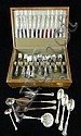 Sterling flatware set in case, 79 pcs.