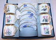 Royal Worcester Bone China Cup & Saucers