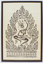 Framed Temple Rubbing