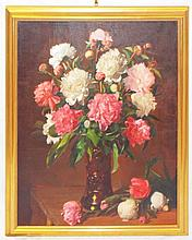 Valdesberea Oil on Canvas Still Life of Flowers
