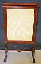 English Mahogany Fire Screen