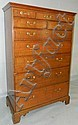 18th Century walnut Chippendale tall chest
