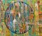 Leizman oil on canvas, abstract
