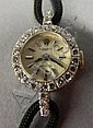Rolex ladies watch with diamonds, 14kt. gold