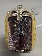 Egyptian 18 kt. gold ring