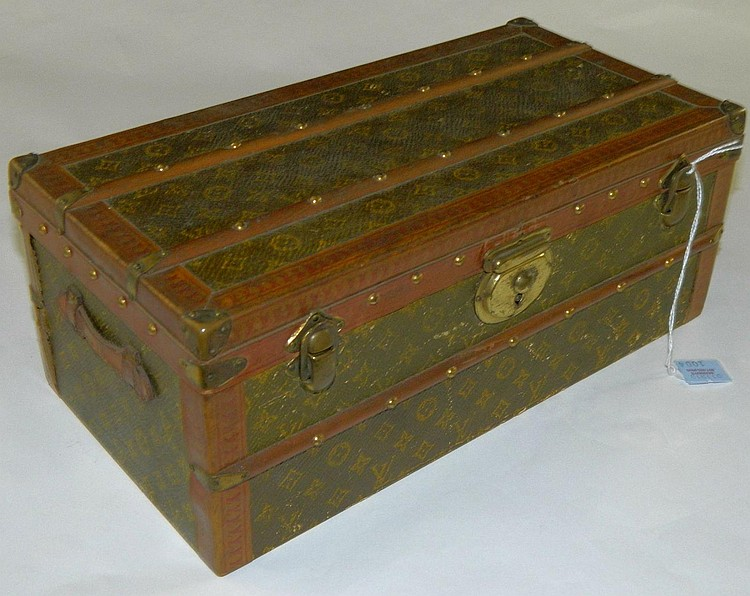 Rare Louis Vuitton miniature flower trunk, ca 1920