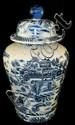 Oriental blue scenic ginger jar