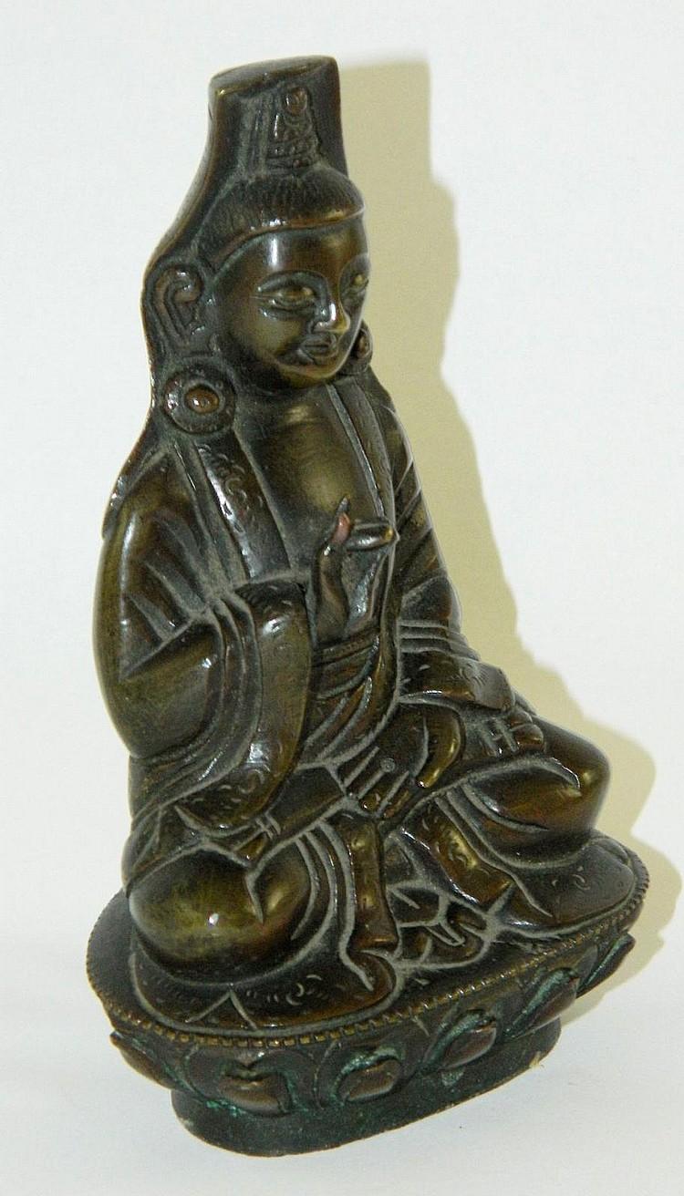 Oriental bronze Buddha sculpture